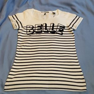 "Brand New Madison Scotch ""Belle"" Stripe Tshirt, S"